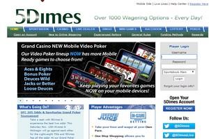 сайт букмекера 5Dimes (5Даймс)